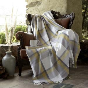 Country Club Capri Kariert Überwurf, Grau Und Senf Modern Modisch Sofabett Decke
