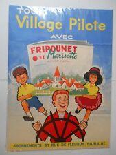 Affiche  Village Pilote de FRIPOUNET et MARISETTE - Vers 1960