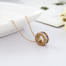 18K Rose Gold Filled Crystal Zodiac 12 Constellation Pendant Necklace Quality