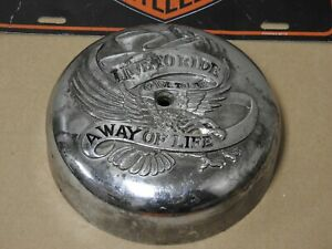 Harley Davidson Round Live To Ride Air Cleaner Cover