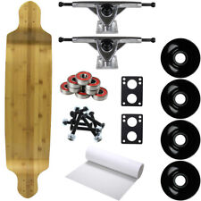 """Moose Longboard Complete 9.75"""" x 41"""" Drop Down Baked Bamboo"""