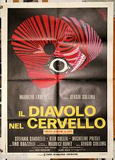 manifesto 2F film IL DIAVOLO NEL CERVELLO Sergio Sollima 1972 art Brini