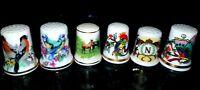 6 Porzellan Fingerhüte von 4 Manufakturen Konvolut Fingerhut Sammlung