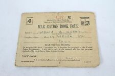 Vintage USA World War II Ration Book Four with Ration Stamps Collectable Sugar