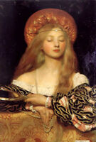 Oil painting frank cadogan cowper - vanity frank beautiful noble lady on canvas
