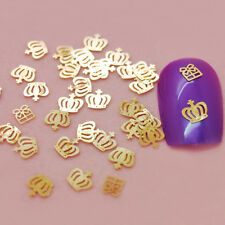 1000PCS Golden Nail Art Crown Label Foil Metal Decorative Decals Seals Stickers