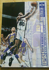 David Robinson San Antonio Spurs 1994/95 NBA Trading Card Gold Signature