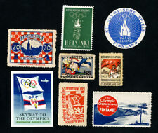 Worldwide Scarce 1940 Olympic Stamp Label Collection of 8 Items