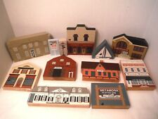 Lot 12 Cats Meow Village Pieces 80s 90s Mixed Sets Vintage