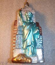 GLASS ORNAMENT ~ STATUE of LIBERTY / EMPIRE STATE BUILDING *EUC