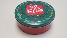 Christmas/Holiday Bells And Lights Cookie/Candy/Sweets/Brown ie Tin