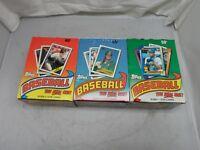 3 Box Lot ~ 1988,1989 & 1990 Topps Baseball Cards 36 Wax Pack Boxes ~