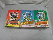 3 Box Lot ~ 1988,1989 & 1990 Topps Baseball Cards 36 Wax Pack Boxes ~
