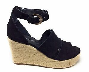 Matisse Women's Cha Ankle Strap Open Toe Wedge Sandals Black Size 10 M US