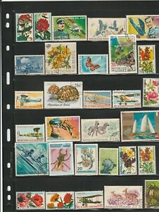 African Countries used stamp mixture