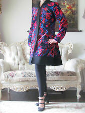VERSACE Collection Multicoloured Velvet/Wool dress-y coat/jacket IT42,US 6-8,S-M