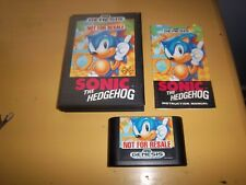 Sonic the Hedgehog Not for Resale (Sega Genesis, 1991) Complete - Cib - Working