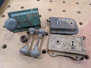 Vintage Antique Door Locks And Brass Handles