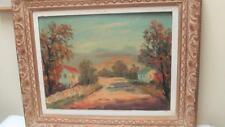 "Vintage American Oil Painting by Caesare Ricciardi Framed 22"" x 16"""