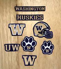 Iron On Sew On Transfer Applique University Washington Huskies Patches Handmade