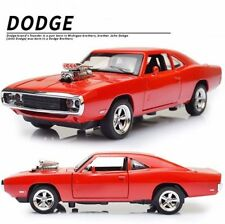 Dodge Charger Car Model 1/32 Scale Red Diecast Vehicle Toy Gift With Sound&Light