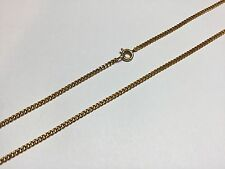 2.5 MM Gold Plated Curb Link Chain Necklace 24 Inch Men's Ladies