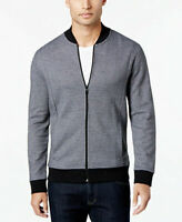 ALFANI - MENS KNIT JACKET IN GREY AND BLACK SIZE XL REGULAR