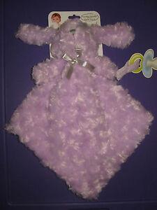 Blankets & Beyond Purple Bunny Rabbit baby Security Blanket Plush NEW nunu lovey