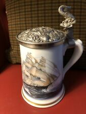 Franklin Mint Limoges Tankard / Stein Greyhounds Of The Sea Leonard Pearce
