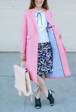Nwt JCrew Collection Olivia Topcoat Grosgrain Ribbon 14 Candy Pink F7077 $495
