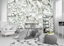 Alabaster flowers 3D WALLPAPER huge photo mural wallpaper BEDROOM wall art