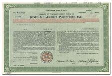 Jones & Laughlin Industries, Inc. Stock Certificate