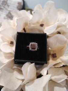Natural Chocolate Sapphire, Zircon Ring in Vermeil YG/SSTCW=2.35,Sz 8.