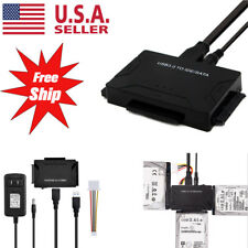 "USB 3.0 to SATA IDE Adapter For 2.5"" 3.5"" SDD HDD Hard Drives w/12V 2A US Power"