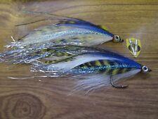 2 V Fly Size 4/0 Baitfish Special Sar Mal Muc Predator GT Saltwater Flies