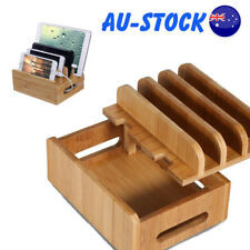 Multi-function Bamboo Charging Dock Station Stand Mount Holder for iPhone ipad
