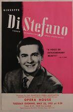 Giuseppe Di Stefano vintage Handbill Sf Opera House may 1951 tenor vocal