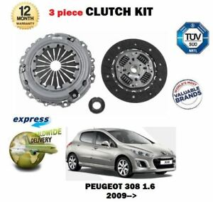 FOR PEUGEOT 308 Mk II 1.6  2009-ON CLUTCH KIT ORIGINAL LUK 3 PIECE