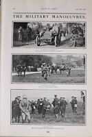 1903 PRINT MILITARY MANOEUVRES BATTLE OF SHEFFORD GENERAL RUNDLE LORD ROBERTS