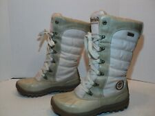 Timberland womans earth keepers waterproof winter boots size 6m # 21647 cream co