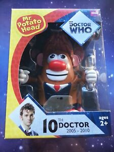 "Tenth Doctor Who Mr Potato Head 7"" Figure Boxed Underground Toys 10th Dr"