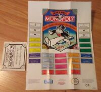 Monopoly Instruction Manual Booklet with poster ONLY NES NO GAME