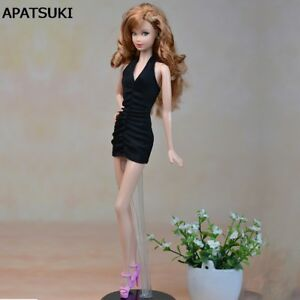 Little Black Dress For 11.5inch Doll Evening Dresses Clothes For 1/6 Dollhouse