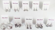 Lot of (10) Pairs Earrings NEW! CATS AND DOGS Wholesale Puppy Kitty Party Favors