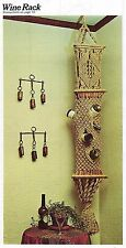 Mid-Century 1970's Hanging Wine Rack Pattern Vintage Macrame Why Knot Craft Book