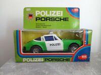 Dickie Kunststoffauto Polizei Porsche 911 gut erhalten läuft selten mit OVP 21cm