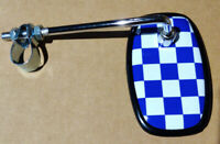 Blue Fastback Checkered Bicycle Mirror
