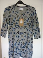MANTARAY GREY BLUE OLIVE FLORAL FINE KNIT TUNIC TOP UK 10, EUR 36-38, US 6 NWT.