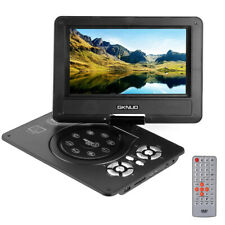 More details for new multi region 9 inch portable in car dvd player rechargeable swivel screen uk