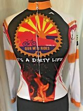 Cycling Jersey ASCEND  ITS A DIRTY LIFE Long Sleeve Women's XS Brushfire BBQ